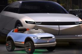 现代汽车推出其最小的电动汽车的设计
