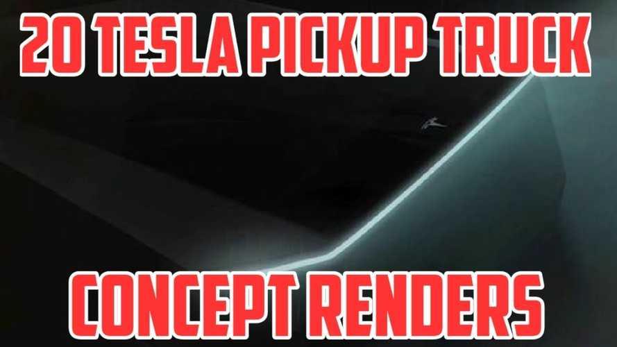 特斯拉皮卡车以20种不同的方式呈现